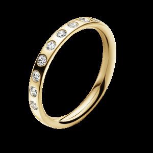georg jensen magic yellow gold and inset diamond ring