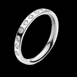 georg jensen magic 18 carat white gold and inset diamond ring
