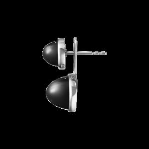 georg jensen michelsen silver and black onyx two part earrings