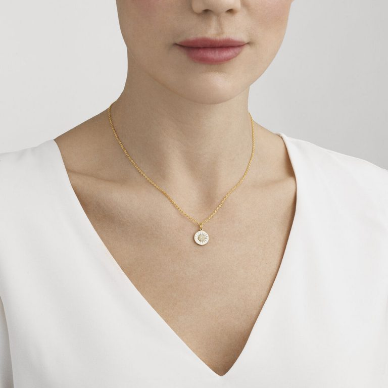 OnModel__10010533 DAISY pendant silver diamond pave