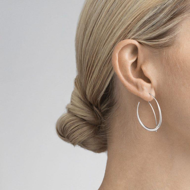 OnModel__10012755 OFFSPRING earhoop sterling silver