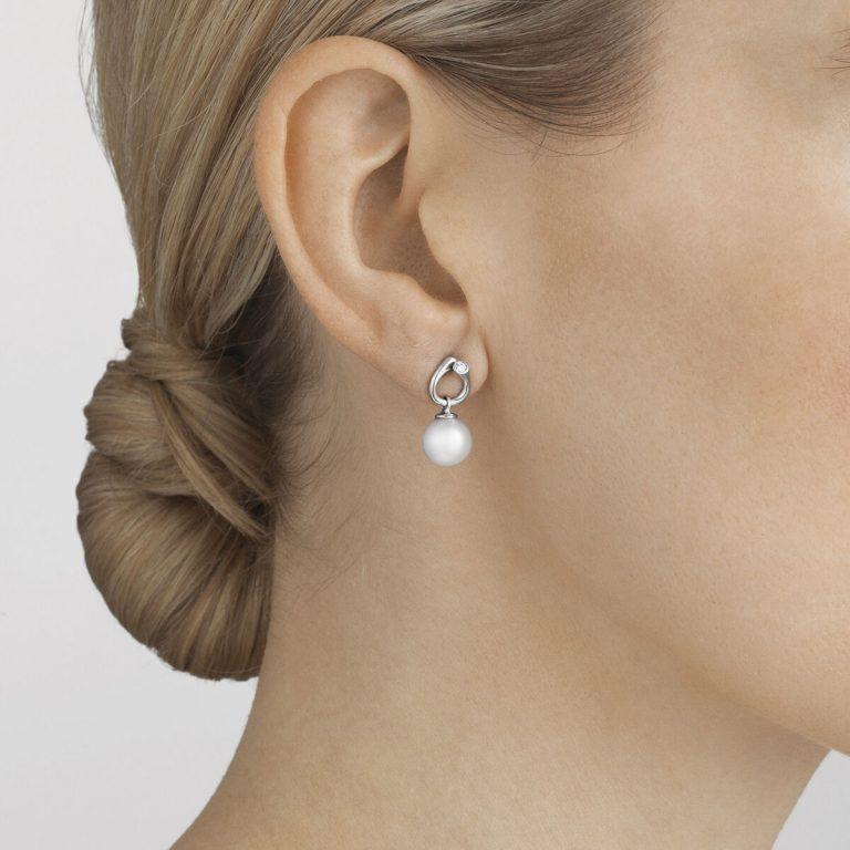 OnModel__3519817 MAGIC earrings gold pearl diamond