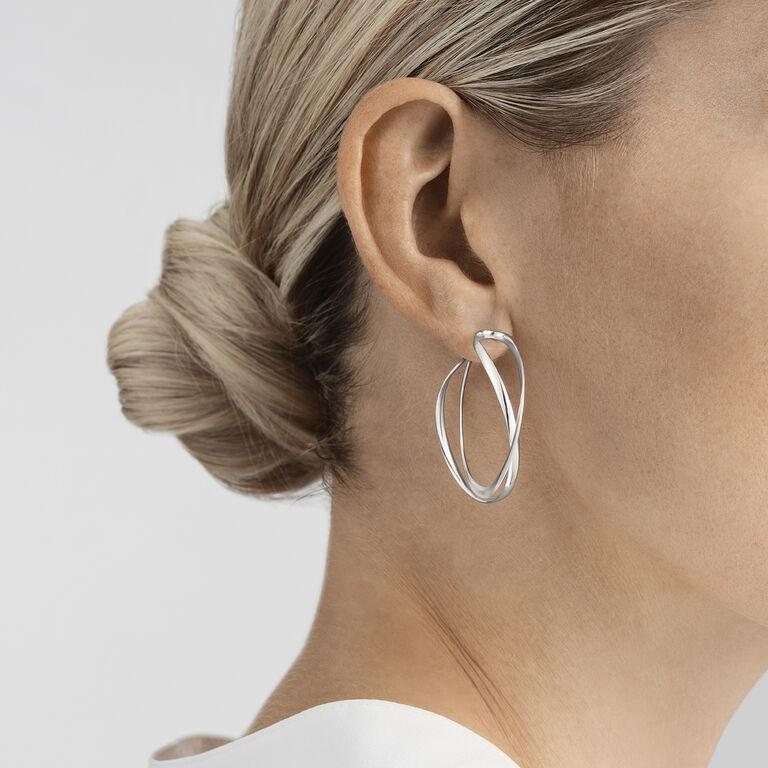 OnModel__3539267 INFINITY earhoops sterling silver
