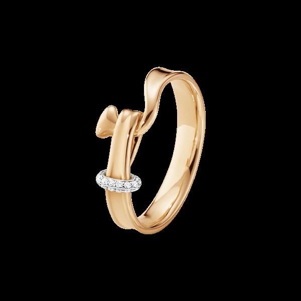 georg jensen torun rose gold and diamond set ring