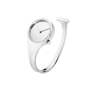 georg jensen vivianna 27 mm steel bangle watch