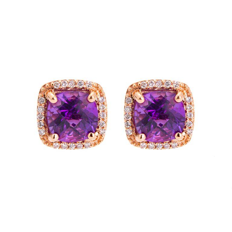 cushion-shaped-amethyst-and-diamond-stud-earrings