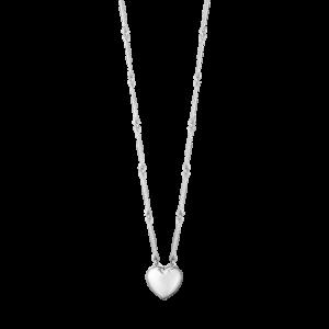 georg jensen silver astrid heart pendant