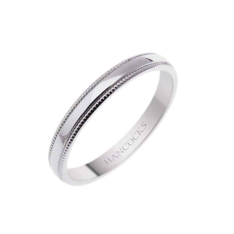 double-bead-edge-platinum-wedding-ring