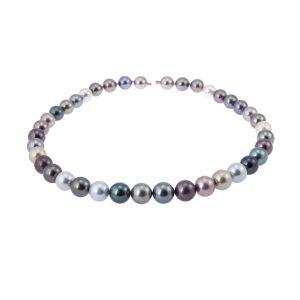 Black-tahitian-pearl-necklet-10-13mm
