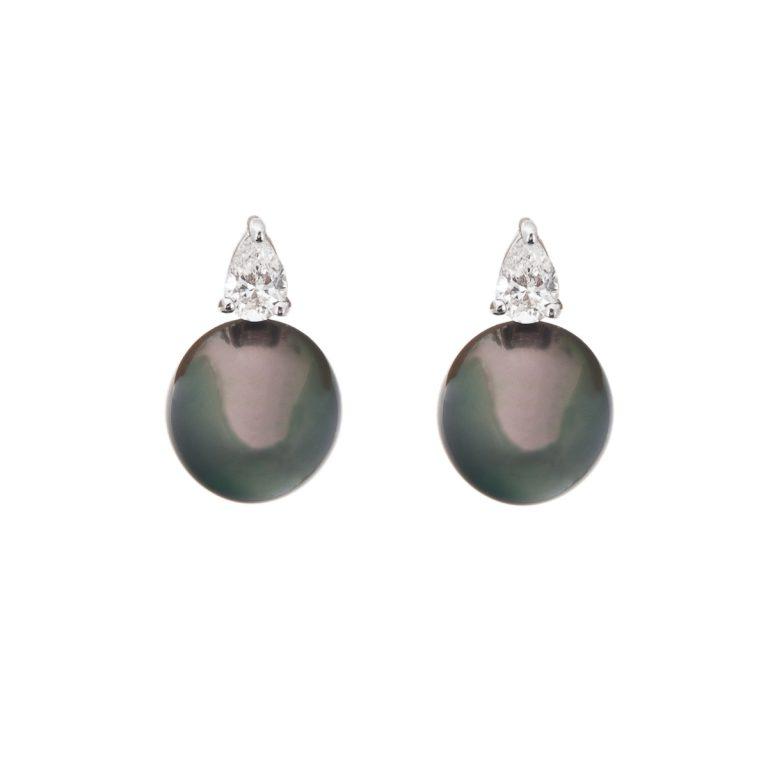 tahitian-pearls-with-pear-cut-diamond-earrings