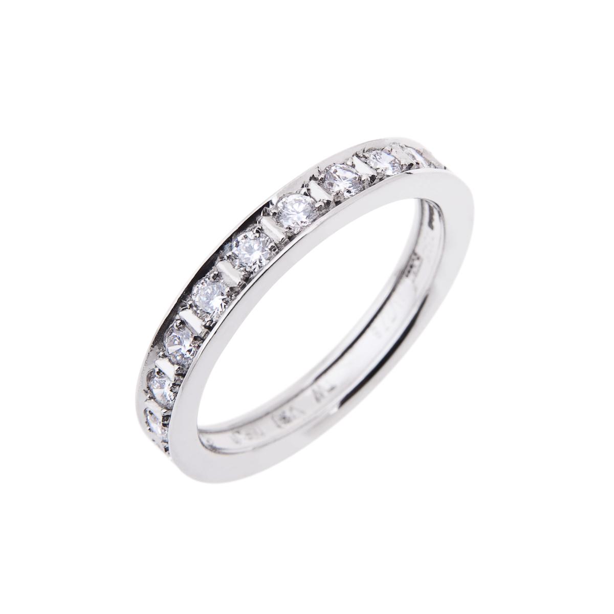 platinum brilliant cut diamond half eternity ring
