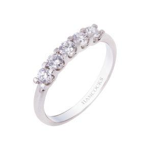 platinum brilliantcut diamond half eternity ring