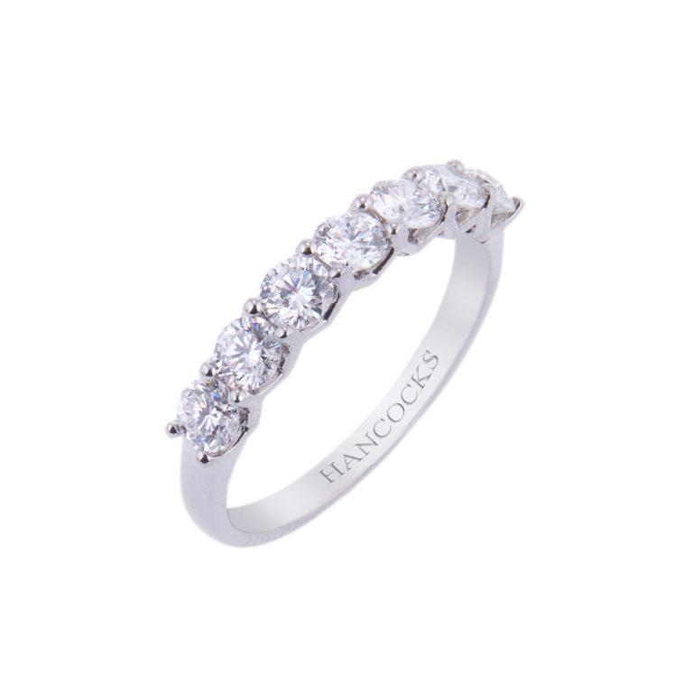 brilliant cut diamond half eternity ring HA 24