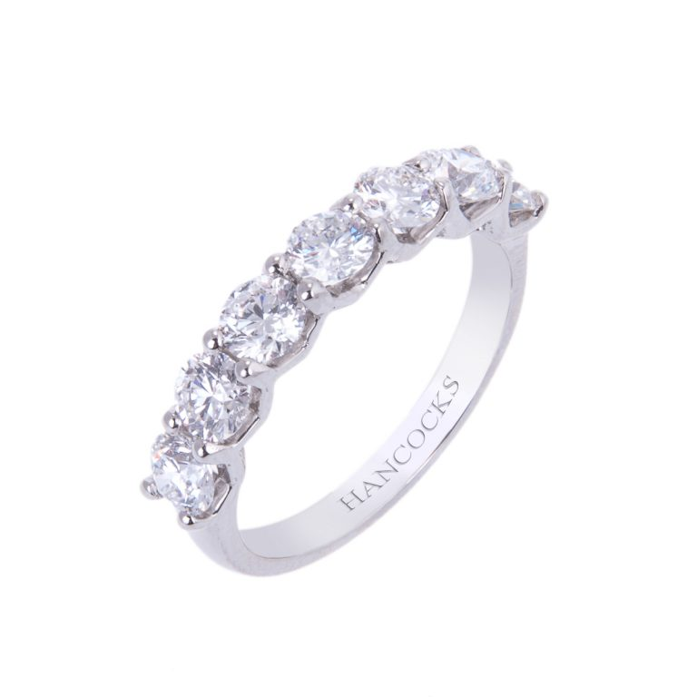 brilliant cut diamond seven stone half eternity ring HA 20