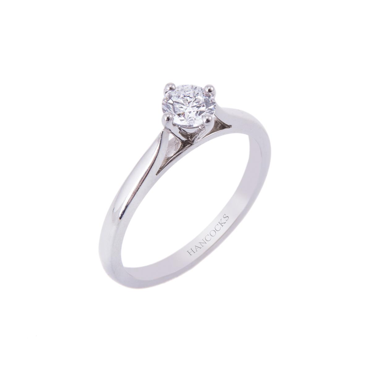 gia certificated brilliant cut diamond single stone ring