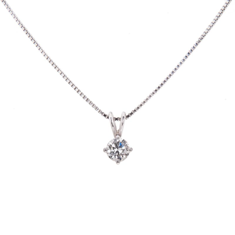 platinum brilliant cut diamond pendant