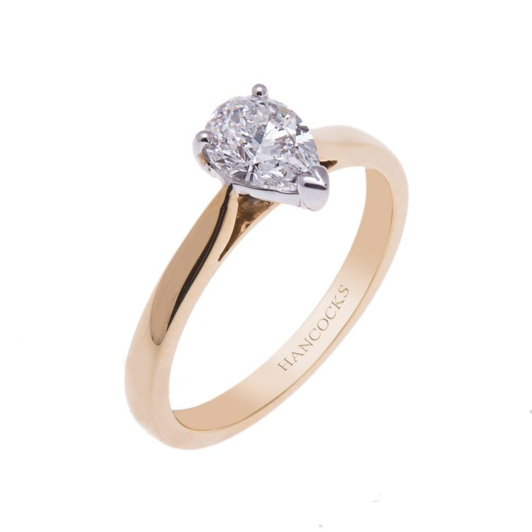 certificated-e-colour-pear-cut-diamond-single-stone-ring
