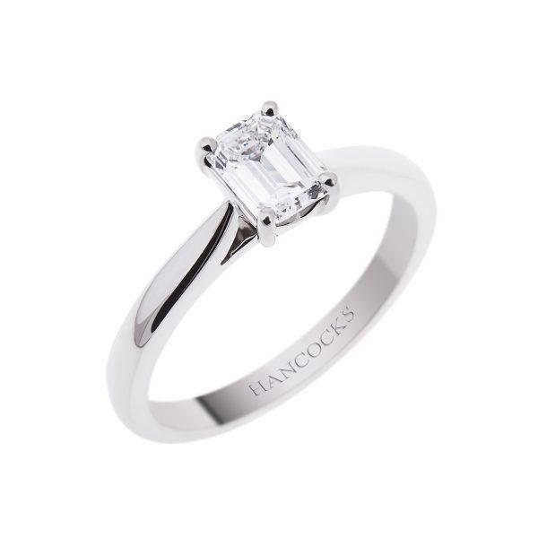 platinum-claw-set-emerald-cut-diamond-ring