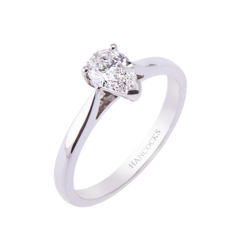 platinum-pear-cut-diamond-single-stone-ring-hancocks-manchester