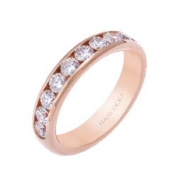 channel set rose gold diamond set ring hancocks manchester H1200 76