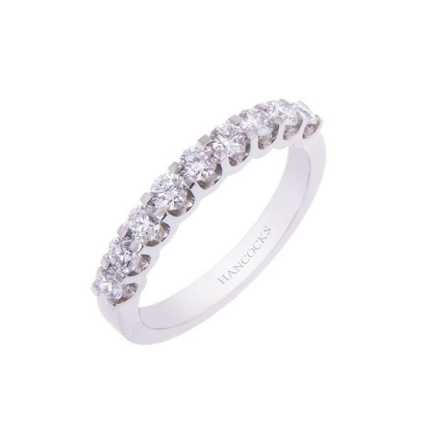 9-stone brilliant cut diamond half eternity ring
