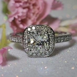 Cushion Cut Diamond Ring Copy Copy 1