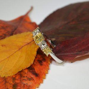 platinum-yellow-diamond-5-stone-eternity-ring