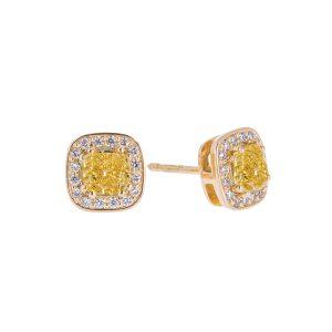 halo-set-yellow-diamond-stud-earrings