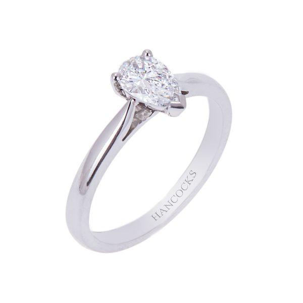 platinum-pear-cut-diamond-engagement-ring