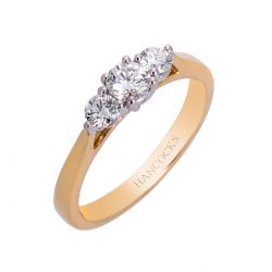 diamond 3 stone engagement ring in 18ct yellow gold HC 100719 64
