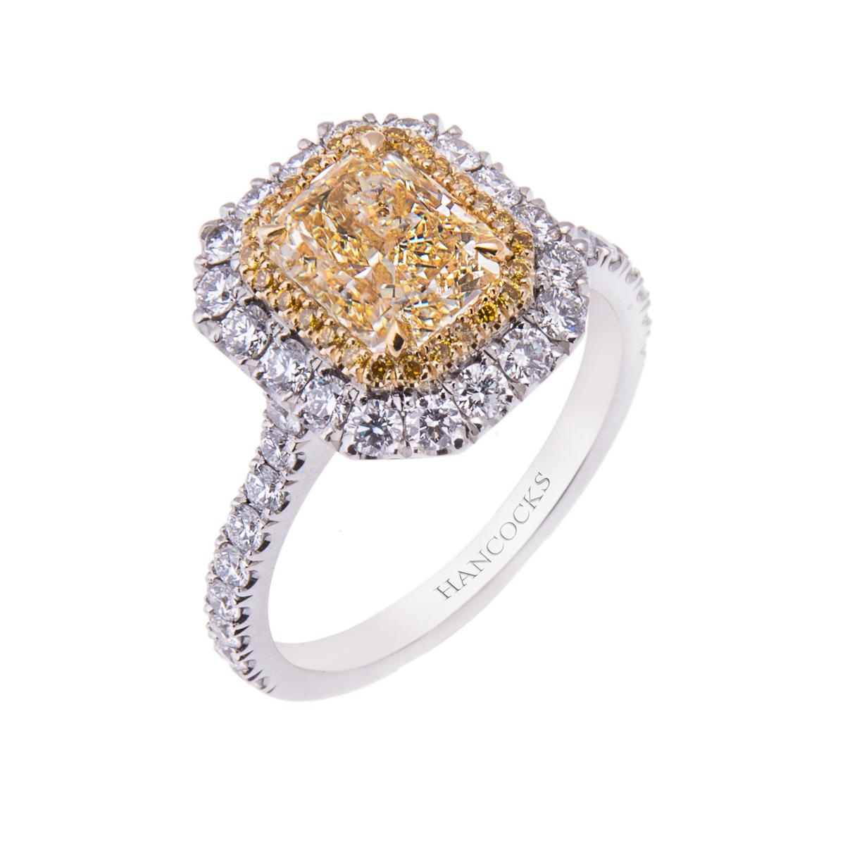 1.40ct-natural-fancy-cushion-cut-yellow-diamond-halo-set-ring