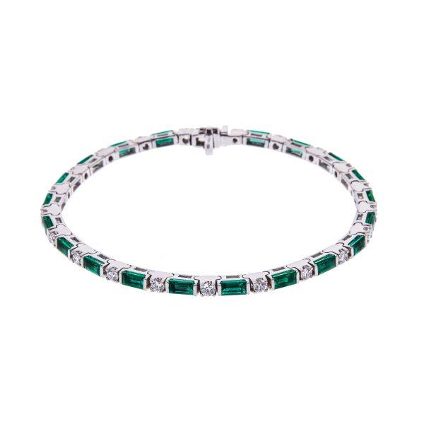 18ct-white-gold-emerald-and-diamond-bracelet