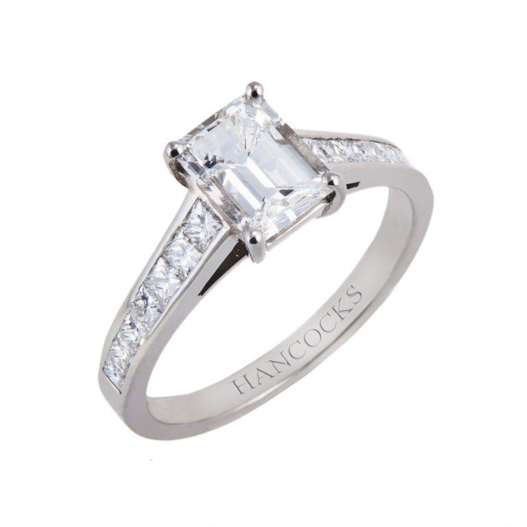 platinum-emerald-cut-diamond-ring