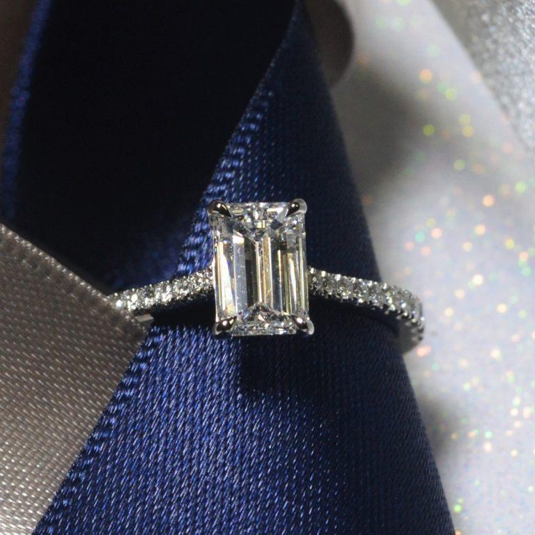 emerald cut diamond ring hancocks manchester