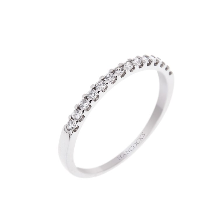 diamond-set-wedding-band