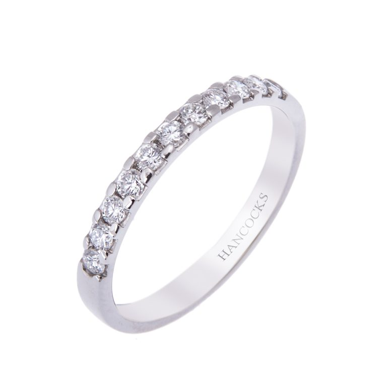 fine platinum ladies diamond wedding ring H1200 63