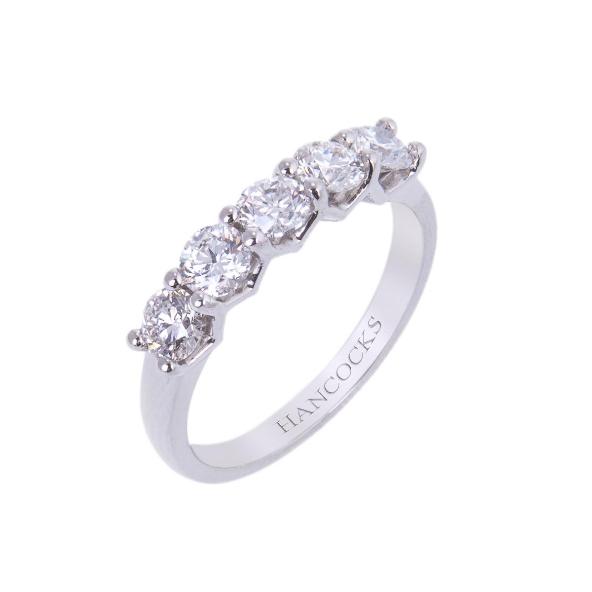 claw-set-diamond-half-eternity-ring