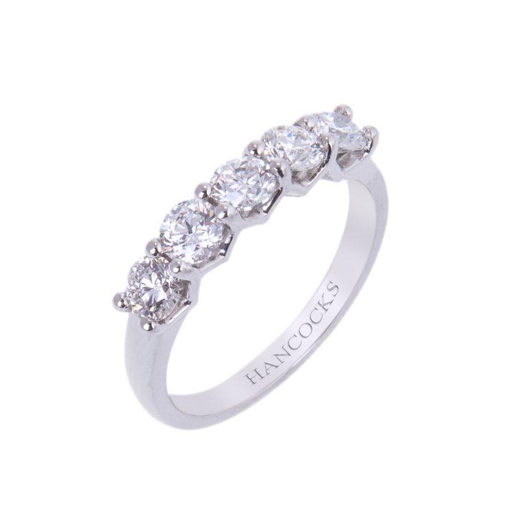 five stone brilliant cut diamond eternity ring HA 22