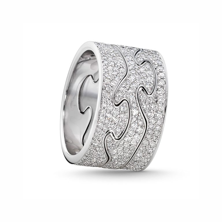 fusion combi ring with pave set diamonds hancocks manchester