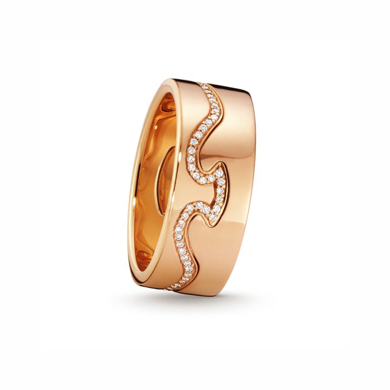 fusion line ring in rose gold georg jensen