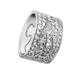 georg jensen fusion white gold and pave' diamond triple ring