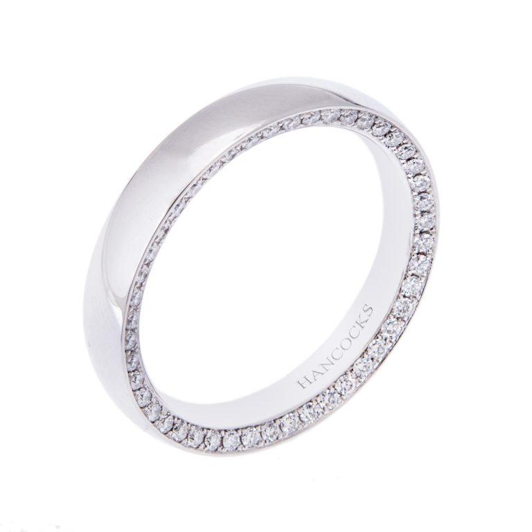 gents platinum diamond set full band H1200 65