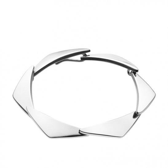 georg jensen peak silver bracelet