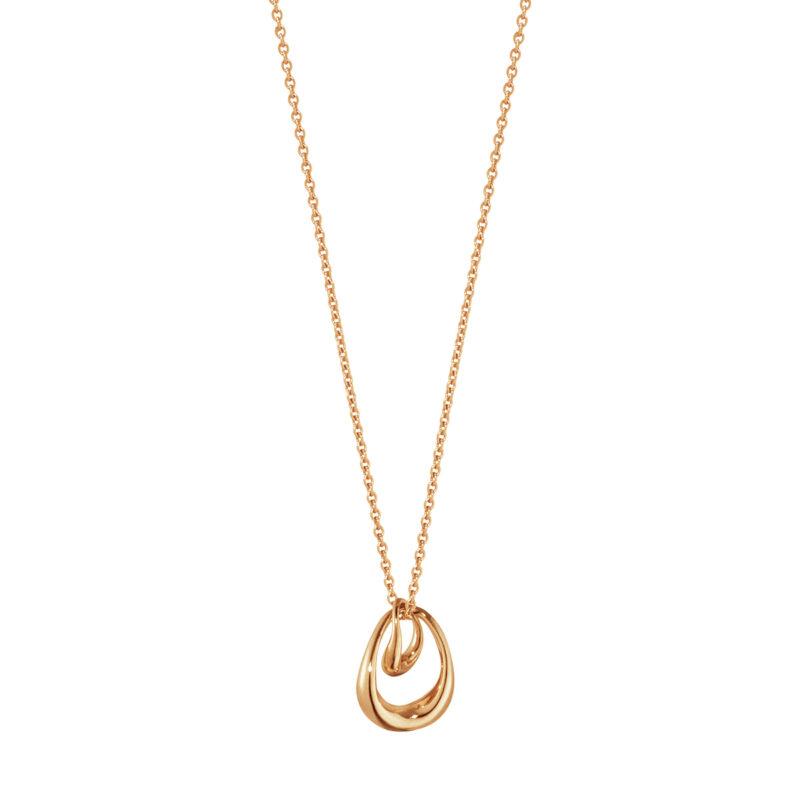georg jensen 18 carat rose gold offspring double drop pendant