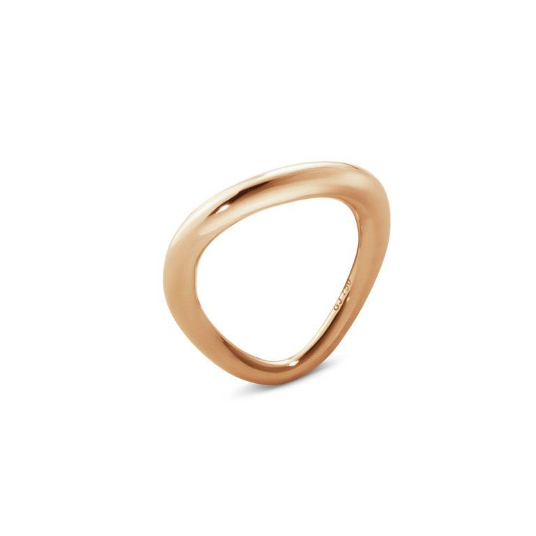 georg jensen offspring 18 carat rose gold ring
