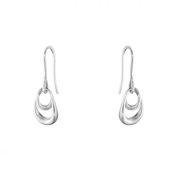 georg jensen offspring silver double drop hook earrings