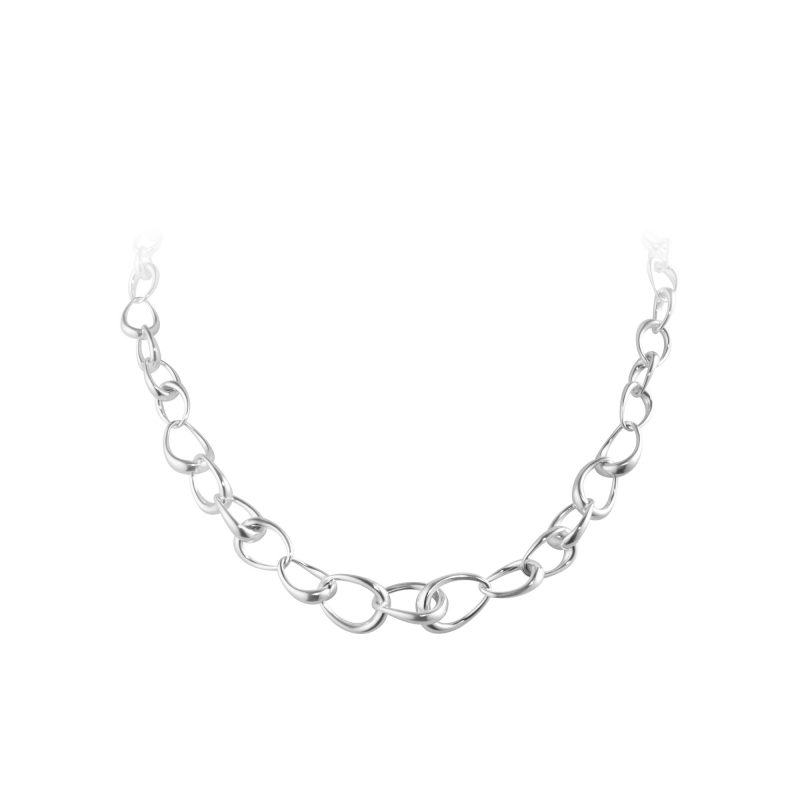 georg jensen silver offspring necklace