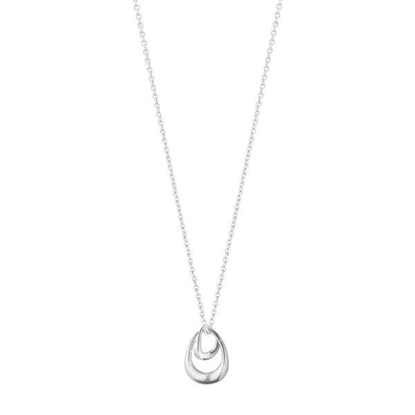 georg jensen offspring silver small double drop pendant