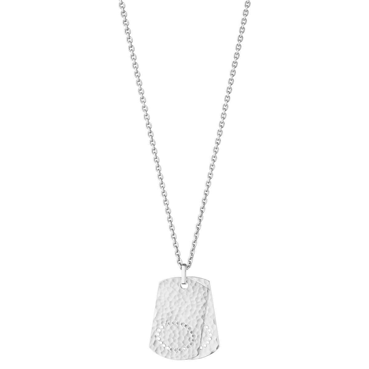georg jensen smithy silver hammered tags pendant