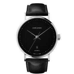 georg jensen koppel black dial black strap 41mm gents watch